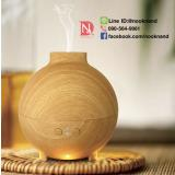 เตาอโรม่าขนาด 600 ml. ไซด์ใหญ่ AromaCare 600ML Pod Shaped Wood Grain Aromatherapy Diffuser Ionizer Ultrasonic